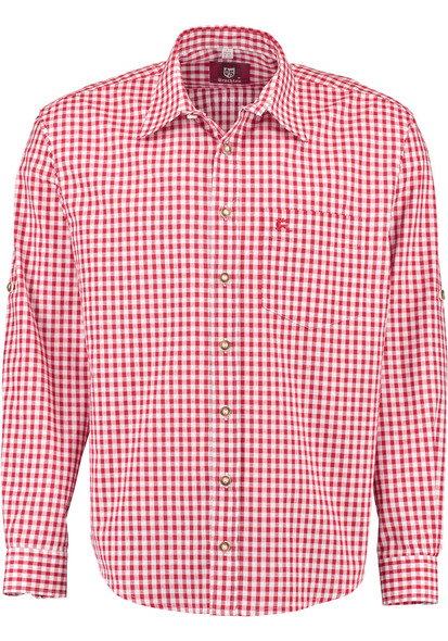 Red Checkered w/deer on pocket  (SH-255R)