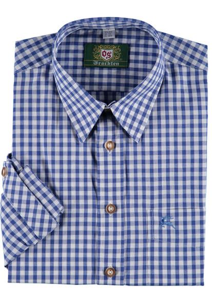 Blue Checkered w/deer on pocket  (SH-256MB)