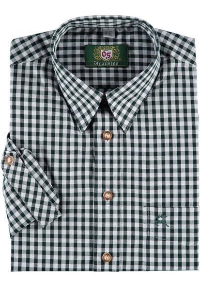 Green Checkered w/deer on pocket  (SH-257G)