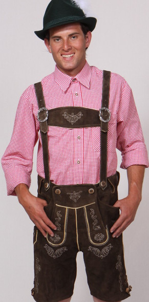 Brown Goat Lederhosen with suspenders (LEDBRWN2-200)