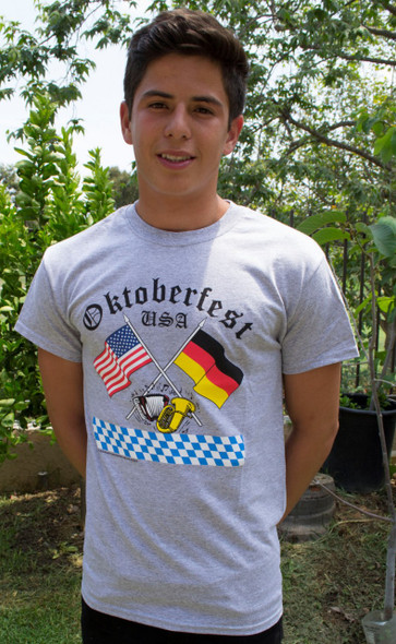 Oktoberfest Gray T-Shirt (2FLAGS-OKT)