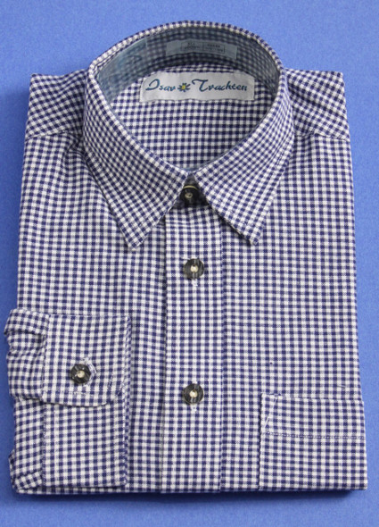 Boy's Blue Checkered Shirt (SH501BLUE-BOY)
