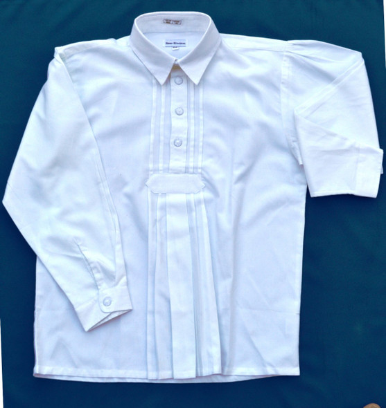 Boy's White Pullover Shirt
