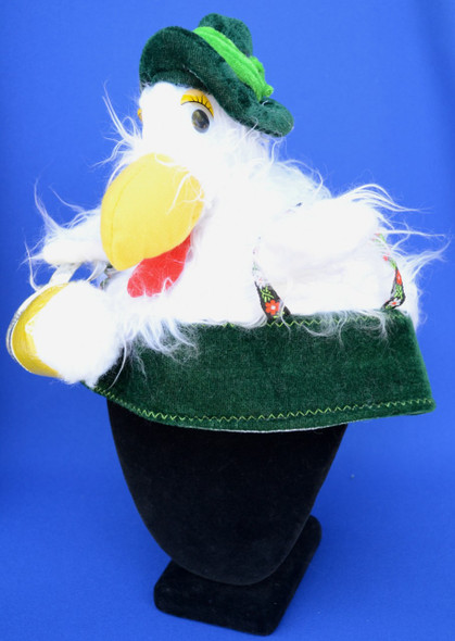 Chicken Hat Green with Mugs
