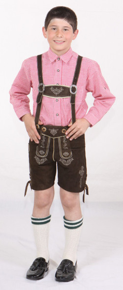 Boys Brown Goat Lederhosen