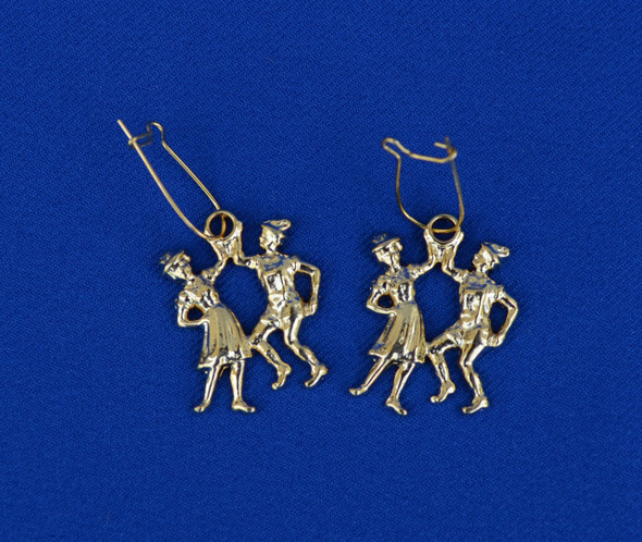 Dancing Couple Gold Earrings (JE213)
