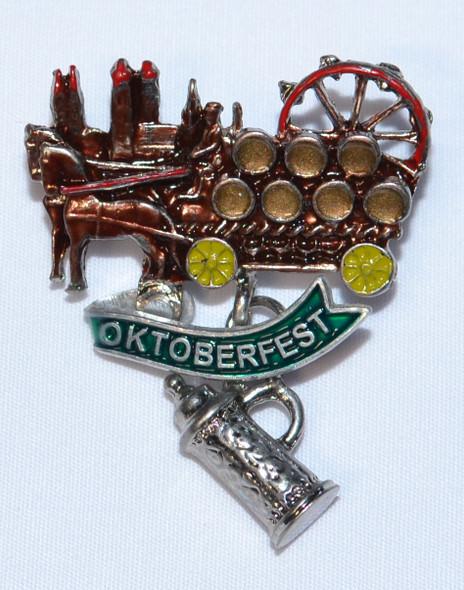HP8703 Oktoberfest Wagon Hat Pin