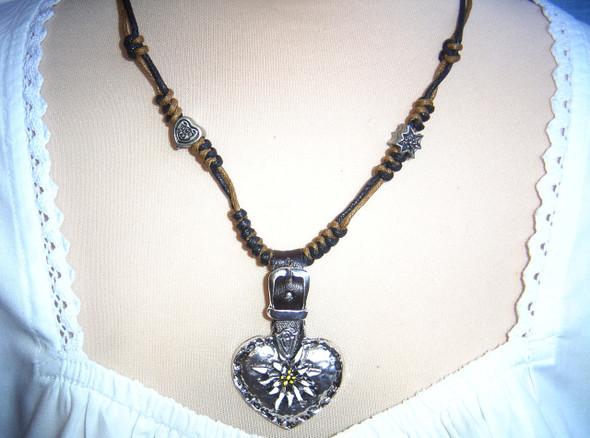 (JN105) Edelweiss Heart with buckle