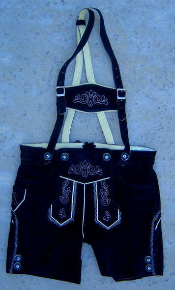 "Boys Black Lederhosen ""Peter"""