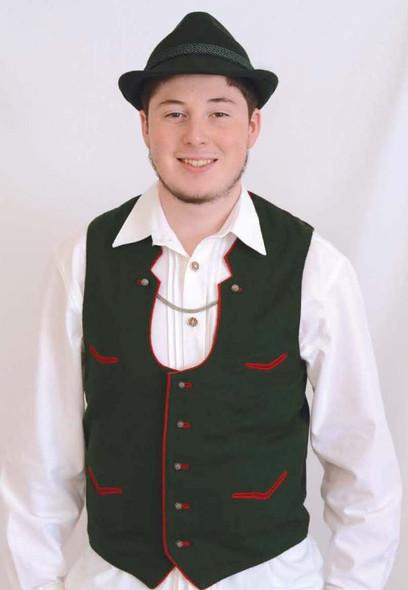 """Mens Green Wool Vest """"V"""" Pockets"""