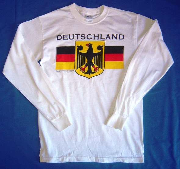 Deutschland White Long Sleeve T (DEUTWHTLONG)