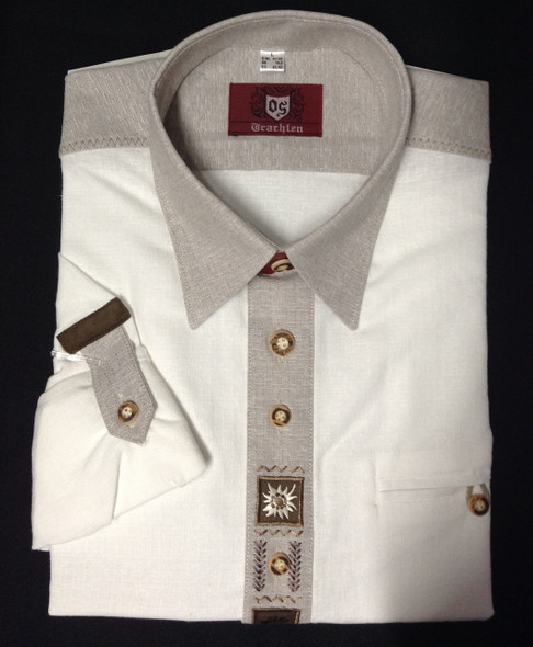 White 2-tone with design Shirt (SH-215SG)