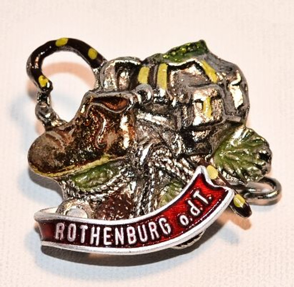 HP8308ROTH Knapsack, Boot, Cane Hat Pin ROTHENBURG