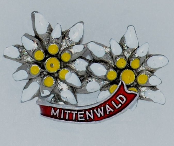 HP8325MIT Edelweiss double Hat Pin MITTENWALD