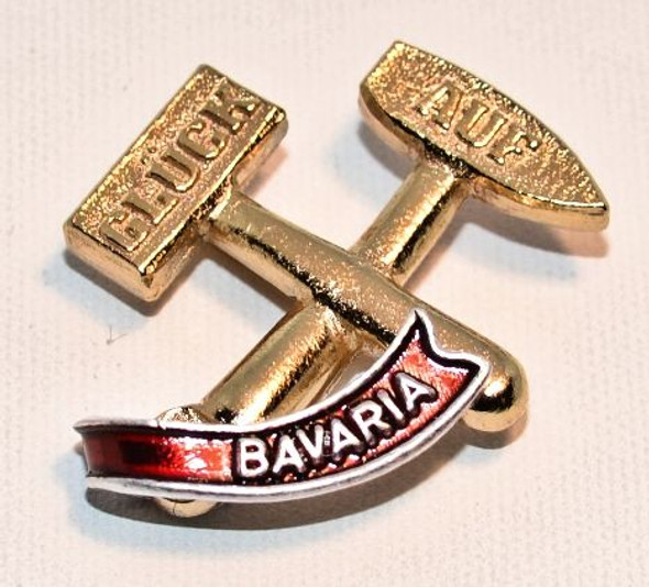 HP8336B  Glụ̈ck auf Hat Pin BAVARIA