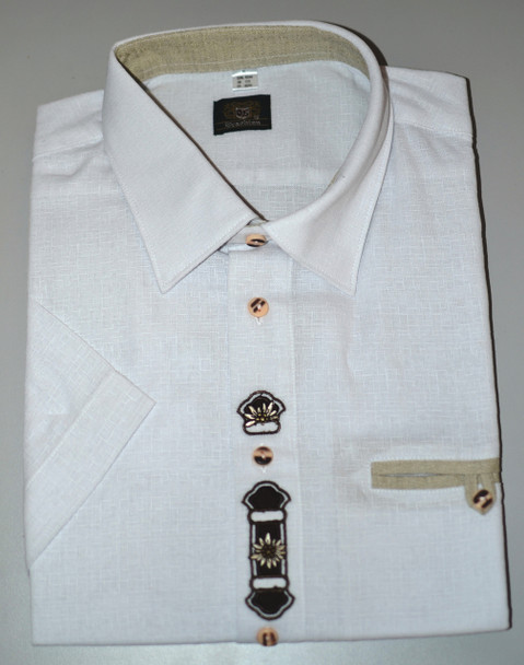 SHORT Sleeve white with design (SH-233SS)