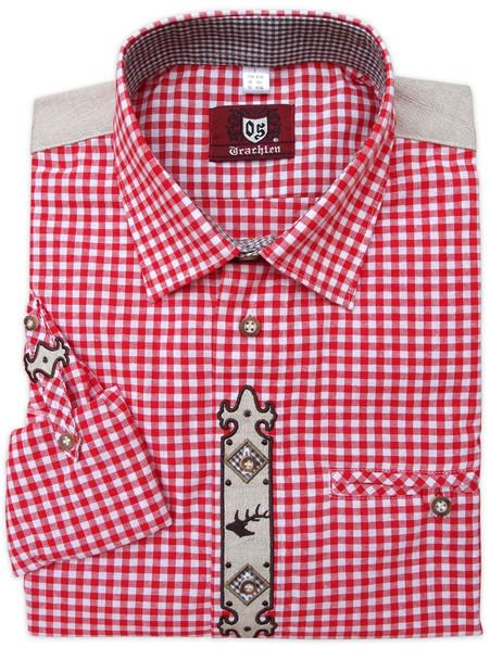 2-Tone Red Checkered Shirt (SH-235R)