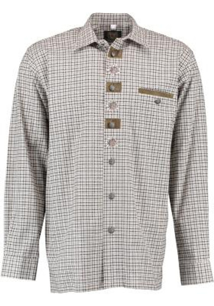 Olive/Tan Shirt w/design (SH-244)