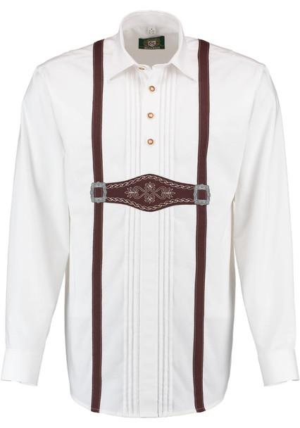 White Shirt with suspender design (SH-245)
