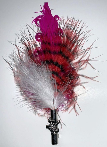 "Colorful feather pink/red/white 6.5"" (FSP104)"