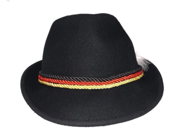 Alpine Black Hat wool with 3 color ropes