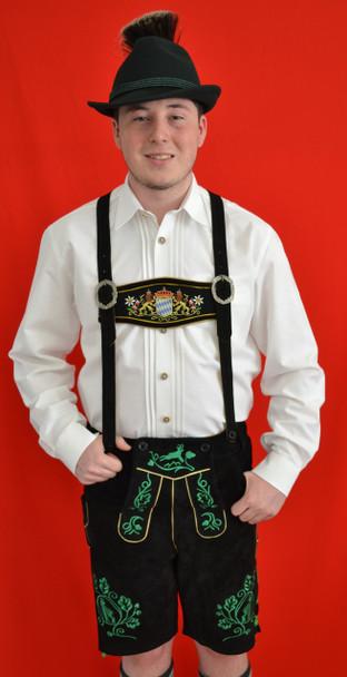 Black Cow Lederhosen (LEDBLK3-100) with suspenders