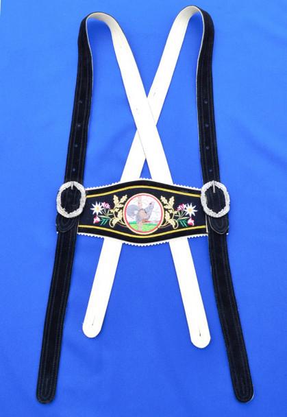 Auerhahn Black Suspenders