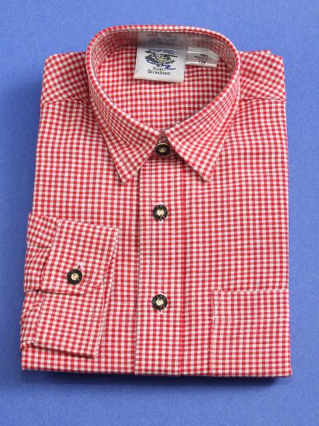 Boy's Red Checkered Shirt (SH501RED-BOY)