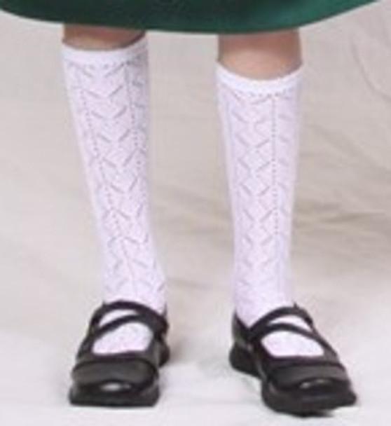 White Trachten Knee Socks (8-5C)