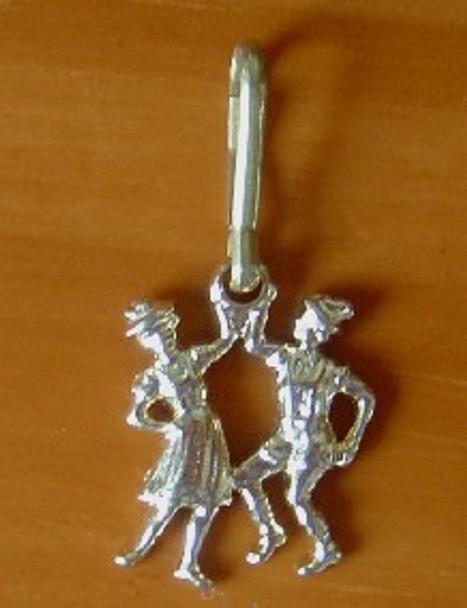 Zipper Pull Gold Dancers