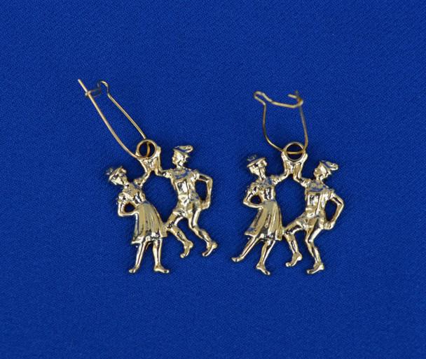 Dancing Couple Gold Earrings (JE213)