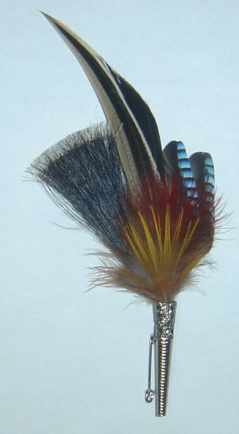 """Colorful Feather with small brush 5.5"""" (FEA205)"""