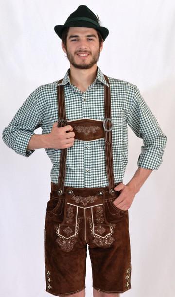 Lederhosen Brown (BT-Bergen) with suspenders