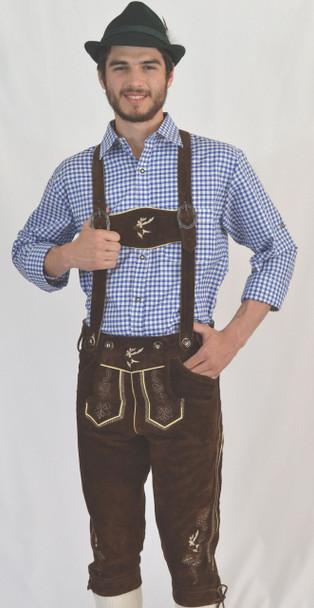 Bundhosen Brown (BT-Lorenz) with suspenders