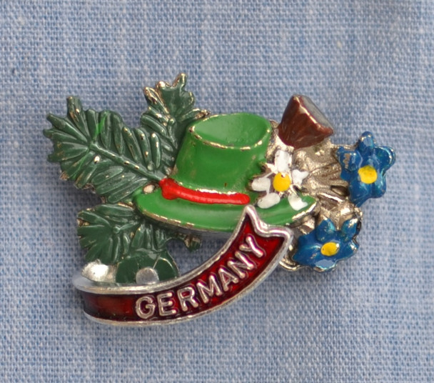 HP8311G Bavarian Hat, Enzian Hat Pin GERMANY