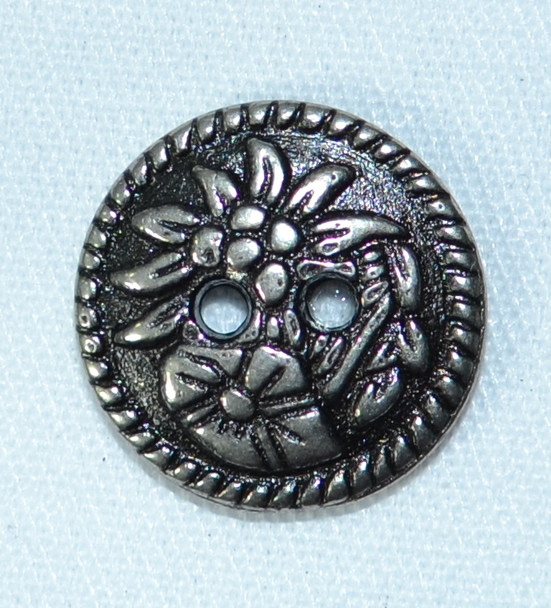 "Button (BUT006) Alpine Flowers 5/8"""