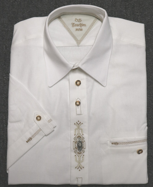 SHORT Sleeve Shirt White with design (SH-224SS)