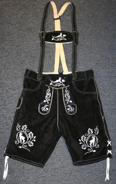 Black Cow Lederhosen (LEDBLK3-900W) with suspenders
