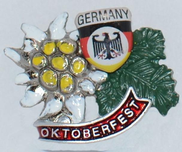 HP8333 Edelweiss with shield  Hat Pin OKTOBERFEST