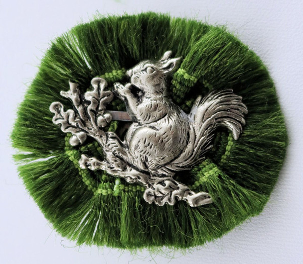 HP8446 Squirrel in Fringe Hat Pin