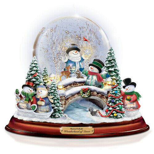 Bradford Exchange Thomas Kinkade Wonderland of Snow Snowglobe