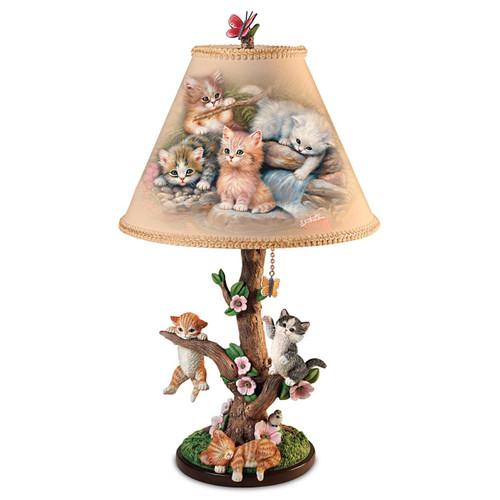 Dog Or Cat Art Lamp With Sculpted Base: Choose Your Favorite Dog Breed Or Cat by The Bradford Exchange