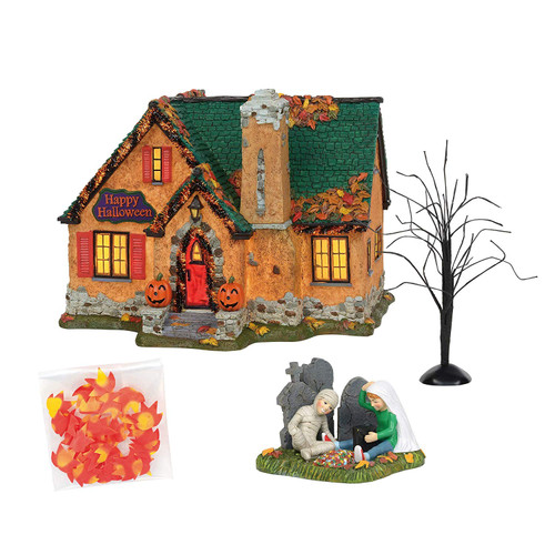 Department 56 Snow Village Happy Halloween House - Set