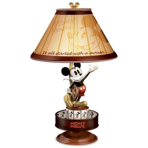 Disney Mickey Mouse Lamp with Spinning Animation Base and Silhouette Shade by The Bradford Exchange