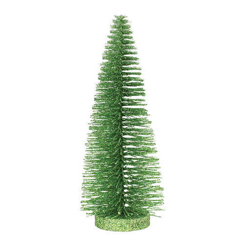 Department 56 Bright Green Glitter Tree, 10 Inches Height