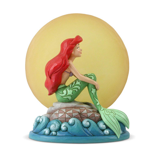 Enesco Disney Traditions by Jim Shore Ariel Sitting on Rock by Moon Figurine