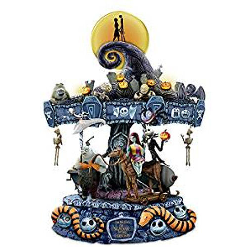 Bradford Exchange Nightmare Before Christmas Light Up Rotating Musical Carousel