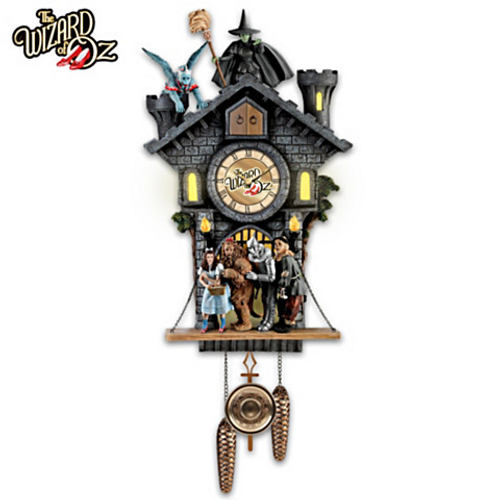 Bradford Exchange Wizard of Oz Wall Clock With Lights Motion & Sound LTD Edition