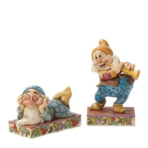 NIB ZZZZZ and Cheerful Note by Jim Shore Snow White Sleepy and Happy - Retired