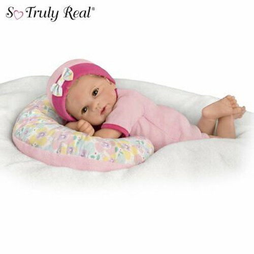 Ashton Drake Violet Parker Cuddle Cutie Baby Doll With Pillow So Truly Real NEW